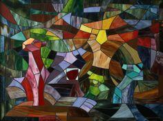 Five Lions Large Mosaic Panel Fine Art 28 x 3675 by MudHorseArt