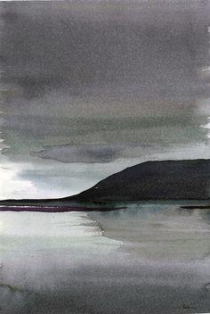 Islandia ©Belén García. Taller de acuarela profesor Pablo Rubén. Mountains, Nature, Travel, Iceland, Professor, Atelier, Sketches, Watercolor Painting, Drawings