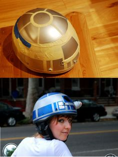 #R2D2 #DIY #bikesafety #bleepboopbleep