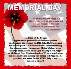 Image result for memorial day poppies american