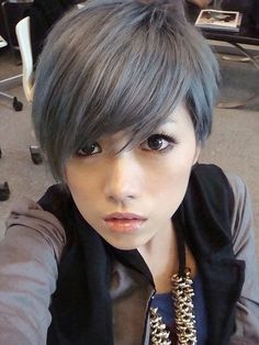 Silvery blue highlights on a light brown base