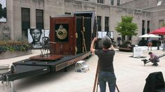 The world's largest film camera is at Two North Riverside Plaza representing the Butterflies & Buffalo: Tales of American Culture project! The camera will be around until Oct stop by and check it out!