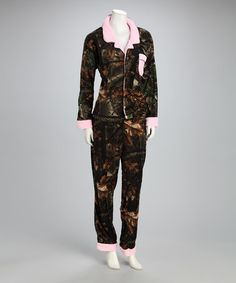 Take a look at this Trail Crest Pink Camo Fleece Pajama Set - Girls by Camouflage Fashion: Women's & Kids on #zulily today!
