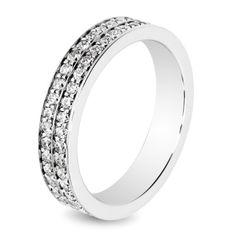 Alliance mariage Diamants 2 rangs