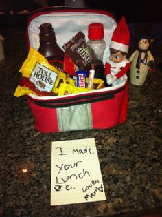 Unique Elf on the Shelf ideas - Such a nutritious lunch