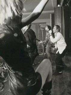 Vivienne Westwood dancing onstage to the Sex Pistols, Notre Dame Hall, London, 1976.