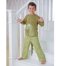 Dinosaur Tail Pajamas - Green - 10  815924ec7