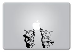 Toy Story Alien Little Green Men Touching Apple Disney Apple Macbook Decal Vinyl Sticker Apple Mac Air Pro Retina Laptop sticker