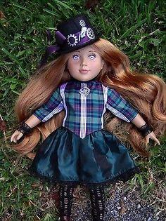 "OOAK Steampunk Long Hair Custom 18"" Just Pretend Doll & Outfit Victorian Fantasy"