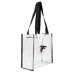 Buy Atlanta Falcons Clear Square Stadium Tote at UnbeatableSale Nfl Stadiums, Bag Display, Little Fashion, Atlanta Falcons, Baby Gear, Team Logo, Reusable Tote Bags, Unisex, Accessories