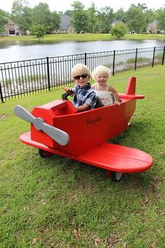 This wooden airplane play structure was designed by an actual aerospace engineer-- Jamison Rantz of the blog Rogue Engineer. It remains safely on the ground, though... except in your child's imagination. We show you how to make it, on The Home Depot Blog.