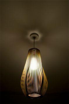 Twisted Lasercut Wooden Lampshade No.3 от baraboda на Etsy