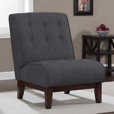 images of grey accent chair   ... Classic Tufted Back Gray Grey Color Fabric Accent Slipper Chair New