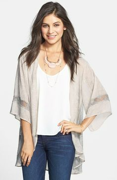 h.i.p. Lace Inset Lightweight Jacket (Juniors) available at #Nordstrom