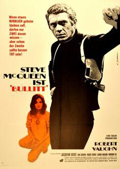 Original Vintage Posters -> Cinema Posters -> Bullit Steve McQueen German - AntikBar