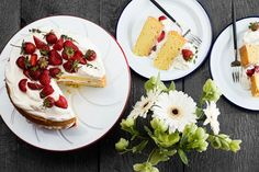 Strawberry Shortcake With Thyme and Whipped Cream