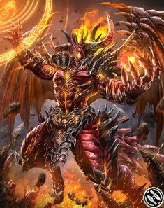 Azazel from Mobius Final Fantasy Foto Fantasy, Fantasy Demon, Fantasy Beasts, Demon Art, Fantasy Monster, Mobius Final Fantasy, Final Fantasy Art, Dark Fantasy Art, Fantasy Artwork