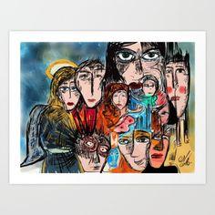 Réunion de famille by Emmanuel Signorino #design#art #shop #fashion #graphicdesign #abstract #mode #art #painting #decoration #home #home_decoration #emmanuelsignorino #love
