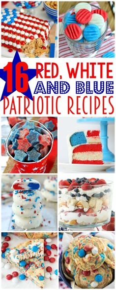 16 Red, White and Blue Patriotic Recipes - Mom On Timeout