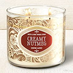 Creamy Nutmeg 3-Wick Candle - Home Fragrance 1037181 - Bath & Body Works