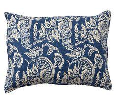 Alessandra Floral Reversible Duvet Cover & Sham - Gray | Pottery Barn