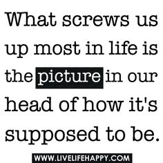 What Screws Us Up Most In Life Is The Picture