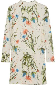 TOPSHOP UNIQUE Edenvale Printed Crepe Mini Dress. #topshopunique #cloth #dress