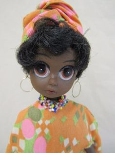 Vtg Pre-Blythe 1970s SOUL SISTER Doll ALL ORIG African American Susie Sad Eyes #SoulSister #DollswithClothingAccessories