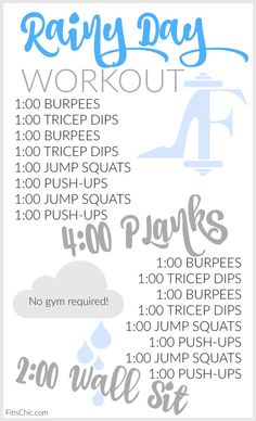 A Rainy-Day Workout | Fit is Chic