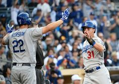Dodgers, Giants win big as Murphy stars on Nats debut Dodgers Baseball, San Diego Padres, National League, Los Angeles Dodgers, Atlanta Braves, World Series, Champs, Mlb, Baseball Cards