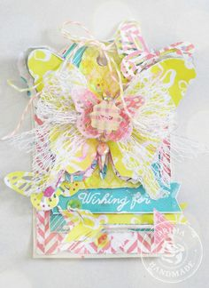 Wishing tag by Stacey Young for Prima using the Wishes and Dreams collection by Leeza Gibbons. #leezagibbons