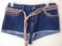 Daisy Duke short shorts denim cutoffs Hotpants wrangler 35x13