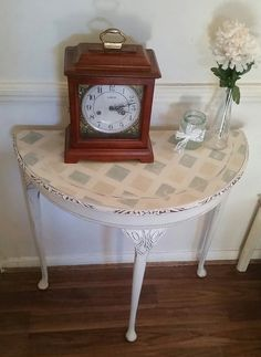 Shabby Chic Style Painted Half Moon Table