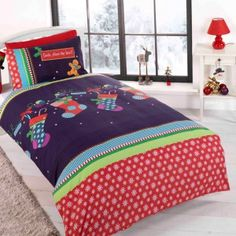 Christmas Stocking Cot Bed Duvet Cover