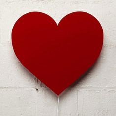 Wear your heart on the wall instead of your sleeve. Perspex heart-shaped light with white wire. Uses a 40 watt bulb. Kids Bed Linen, Kids Furniture, Love Heart, Linen Bedding, Heart Shapes, Bulb, Moana, Kiss, Design