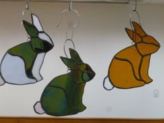 Stained Glass Bunny rabbit by GlassMonkeyArts on Etsy
