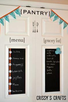 Pantry Door Makeover