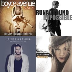 A playlist featuring RUNAGROUND, James Arthur, Boyce Avenue, and others
