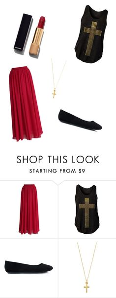 """Crurch Day"" by princess-accitia on Polyvore featuring Chicwish, Chanel, women's clothing, women's fashion, women, female, woman, misses and juniors"