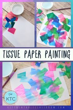 Tissue Paper Painted with Water