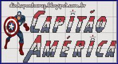Atendendo a pedidos, hoje trouxe o monograma do Capitão América:                        para quem não viu o gráfico clique aqui!   beijos a ...