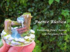 Fuente Rústica en Porcelana Fria - Resina / Cold Porcelain - Resin - YouTube