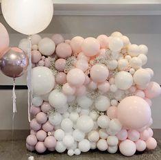 Balloon Backdrop, Balloon Wall, Balloon Garland, Balloon Decorations, Balloon Columns, Happy Birthday Decor, Baby Birthday, Birthday Party Decorations, Bridal Shower Balloons