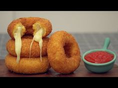 Mozzarella Onion Rings - YouTube