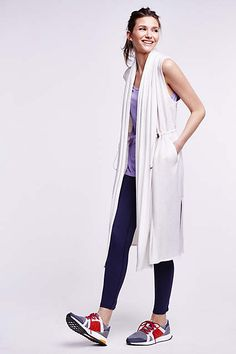 The Anthropologie EU Avasa Duster Vest. Wear over leggings and vest for a laid-back weekend look.