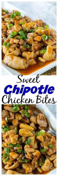 Sweet Chipotle Chicken Bites – dinner is ready in 15 minutes with these chicken bites. A little sweet, a little spicy…the whole family will love it!