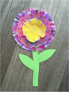 Paper Flower Art For Toddlers And Preschoolers