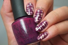 Kelsie's Nail Files: Get Cherried Away with Stamping Nail Art using OPI: ☆Get Cherried Away ☆ & Stamped with Pueen-61 and Mundo de Unas stamping polish
