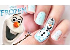 Have a look at the collection of 15 Disney Frozen Olaf nail art designs, ideas, trends & stickers of Enjoy these Olaf nails and stay up to date. Frozen Nail Designs, Cute Nail Designs, Acrylic Nail Designs, Frozen Nail Art, Frozen Nails, Olaf Nails, Snowman Nails, Disney Frozen Olaf, Sven Frozen