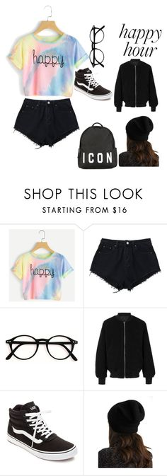 """""""Happy Hour (Twist on Outfit #3) -Ana Lim"""" by the-real-ana-lim ❤ liked on Polyvore featuring adidas, Vans, White + Warren and Dsquared2"""